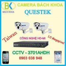 Camera quan sát bộ 2 mắt, CCTV Questek - 3701AHD