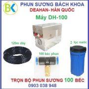 Bộ máy phun sương 100 béc đế nhựa, DH-100