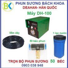 Bộ máy phun sương 50 béc đế nhựa, DH-100