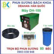 Bộ máy phun sương 80 béc đế nhựa, DH-100