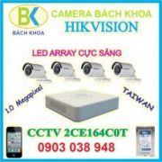 Camera quan sát bộ 4 mắt, CCTV HIK Vision - 2CE164C0T
