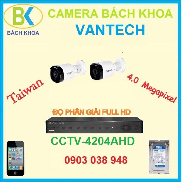 camera quan sát bộ 2 mắt, CCTV Vantech-4204AHD