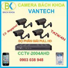 Camera quan sát bộ 4 mắt, CCTV vantech-2004AHD