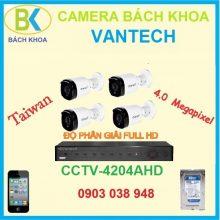 Camera quan sát bộ 4 mắt, CCTV Vantech-4204AHD