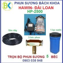 Hệ thống phun sương 5 béc đế đồng HP-2500