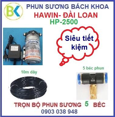He-thong-phun-suong-5-bec-de-nhua-HP-2500 sieu tiet kiem