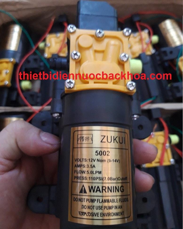 Máy bơm nước mini 12V, 5 lít/phút, 110 PSI, hiệu Zukui