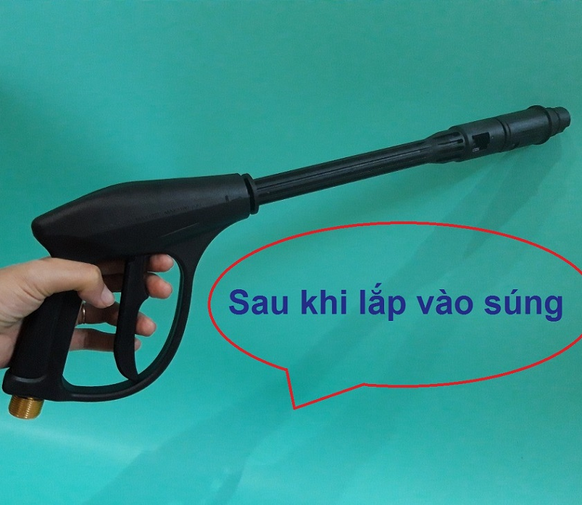 Súng rửa xe gắn thanh nối dài