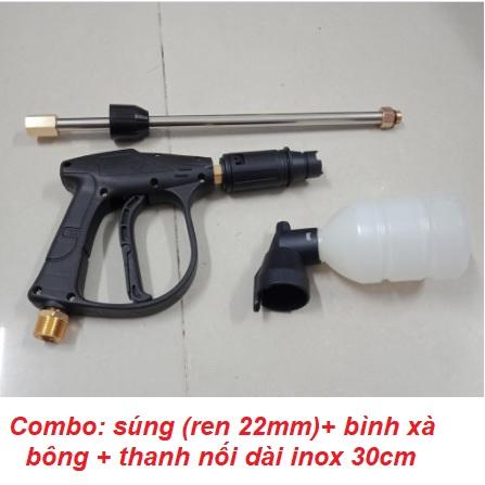 Thanh inox nối dài súng rửa xe